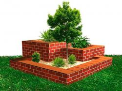 Build your own clay brick Stepped Flower Box