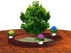 Build your own Clay Brick Tree Seat